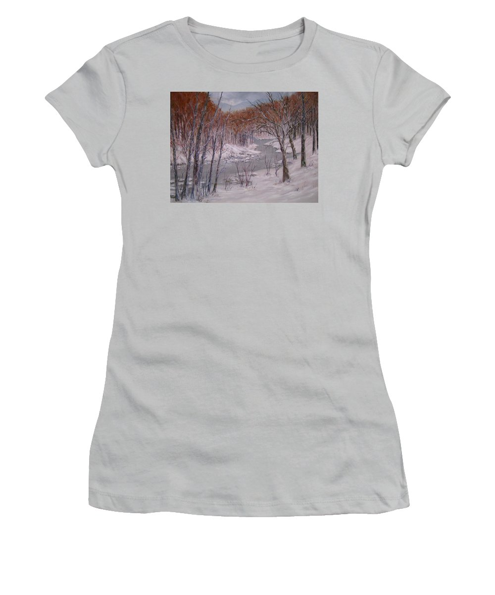 Peace Project Women's T-Shirt (Athletic Fit) featuring the painting Peace And Quiet by Ben Kiger