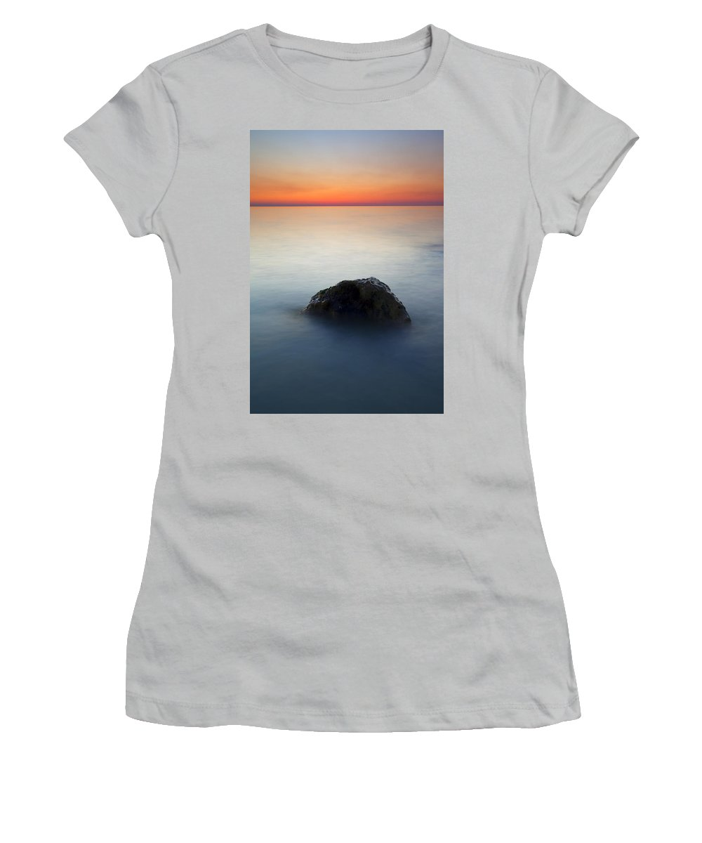 Rock Women's T-Shirt (Athletic Fit) featuring the photograph Peaceful Isolation by Mike Dawson