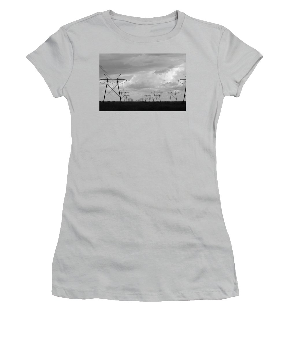 Sky Women's T-Shirt (Athletic Fit) featuring the photograph Power In The Sky by Rob Hans