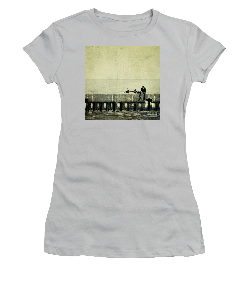 Man Women's T-Shirt (Athletic Fit) featuring the photograph Praying To A God I Dont Believe In by Dana DiPasquale