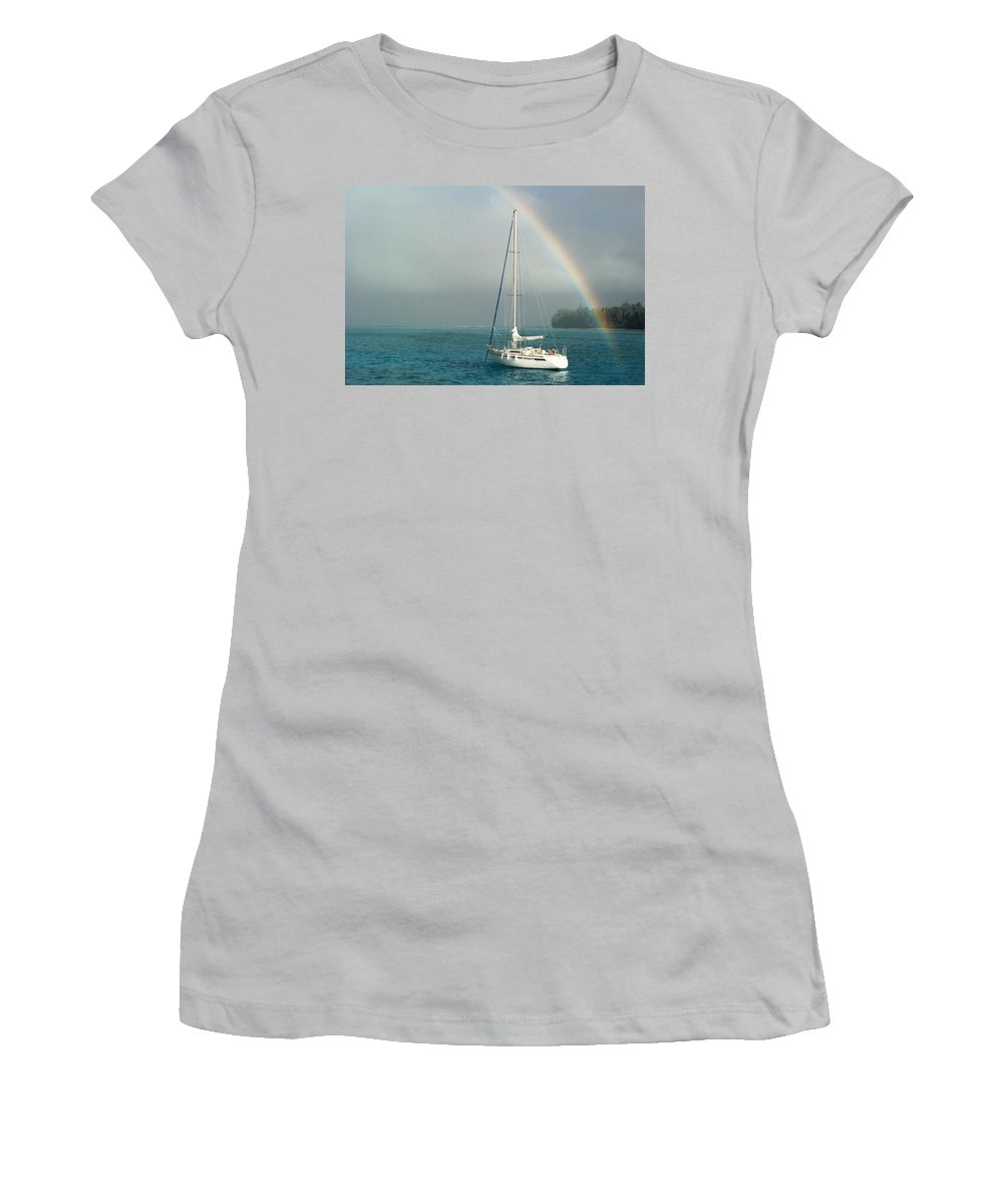 Charity Women's T-Shirt (Athletic Fit) featuring the photograph Rainbow by Mary-Lee Sanders
