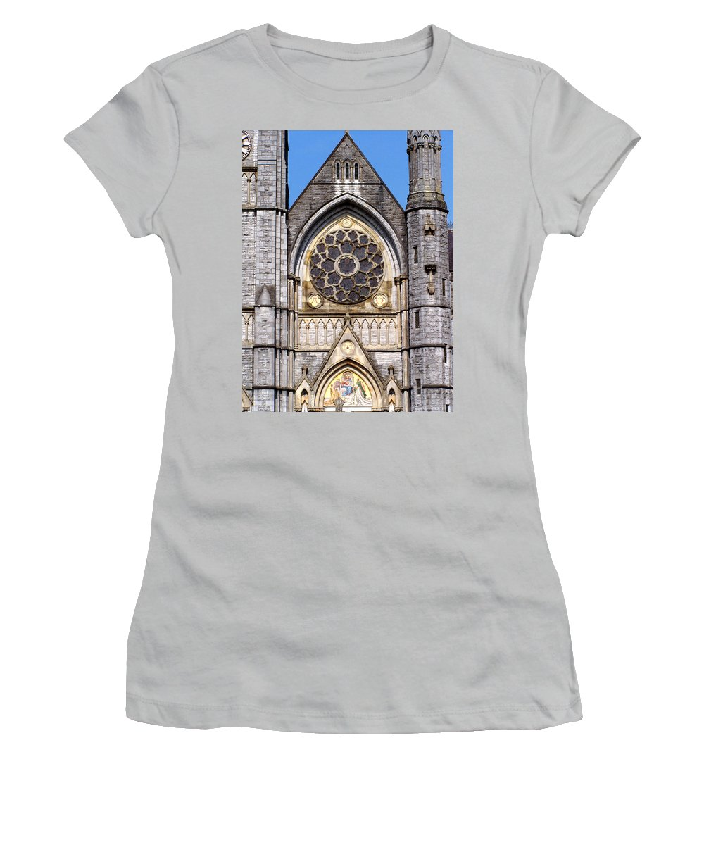 Ireland Women's T-Shirt (Athletic Fit) featuring the photograph Sacred Heart Church Detail Roscommon Ireland by Teresa Mucha