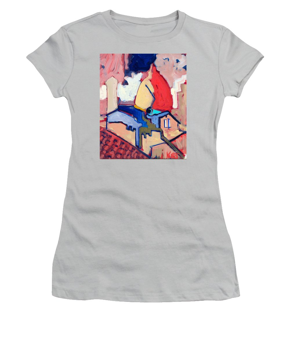 Florence Women's T-Shirt (Athletic Fit) featuring the painting Salutare by Kurt Hausmann