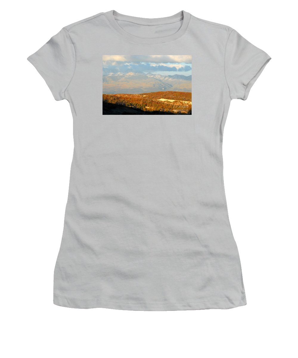 San Juan Mountains Colorado Women's T-Shirt (Athletic Fit) featuring the photograph San Juan Mountains by David Lee Thompson