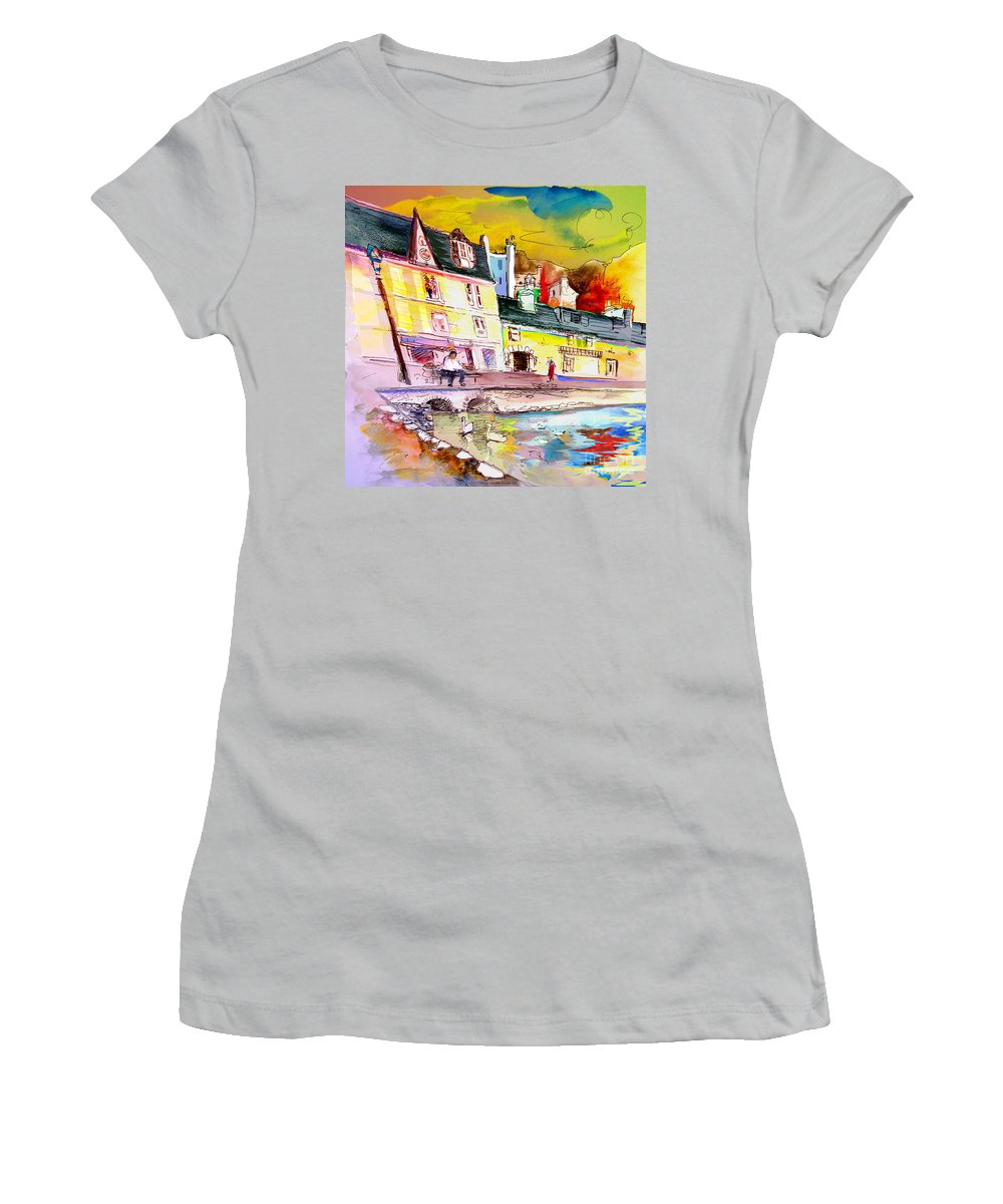 Scotland Paintings Women's T-Shirt (Athletic Fit) featuring the painting Scotland 04 by Miki De Goodaboom