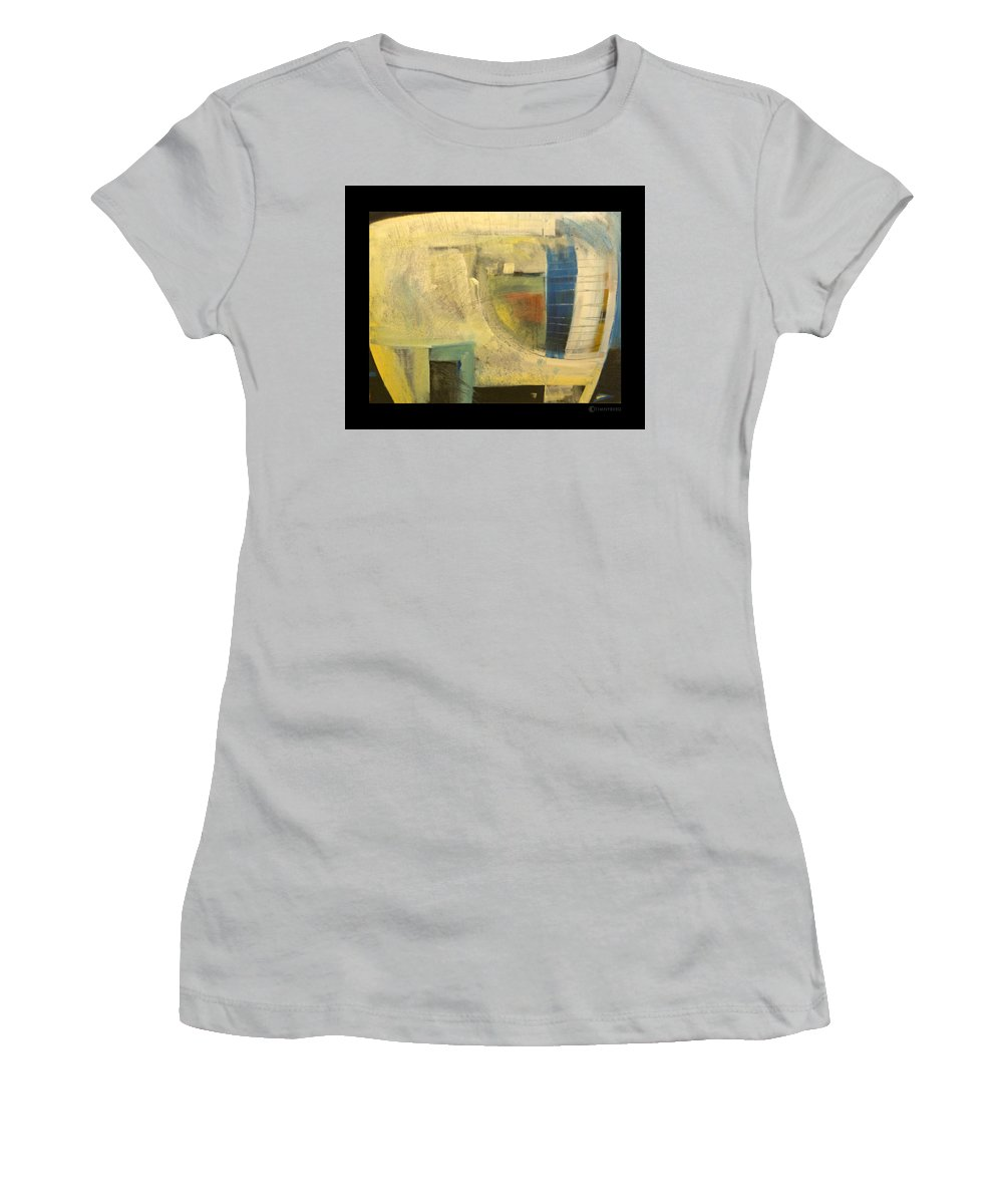 Dog Women's T-Shirt (Athletic Fit) featuring the painting Space Dog by Tim Nyberg