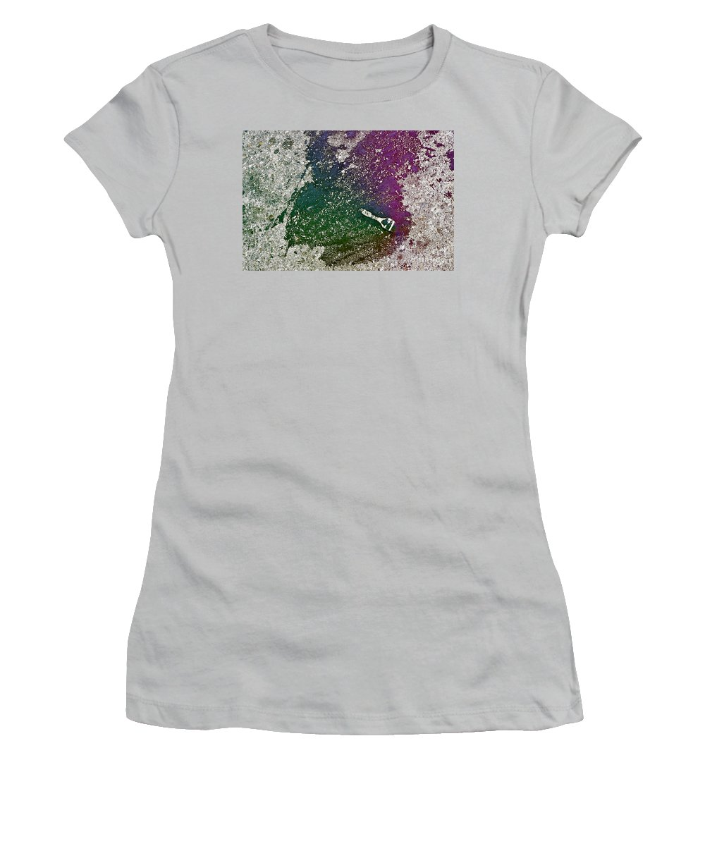 Clay Women's T-Shirt (Athletic Fit) featuring the photograph Street Painter by Clayton Bruster