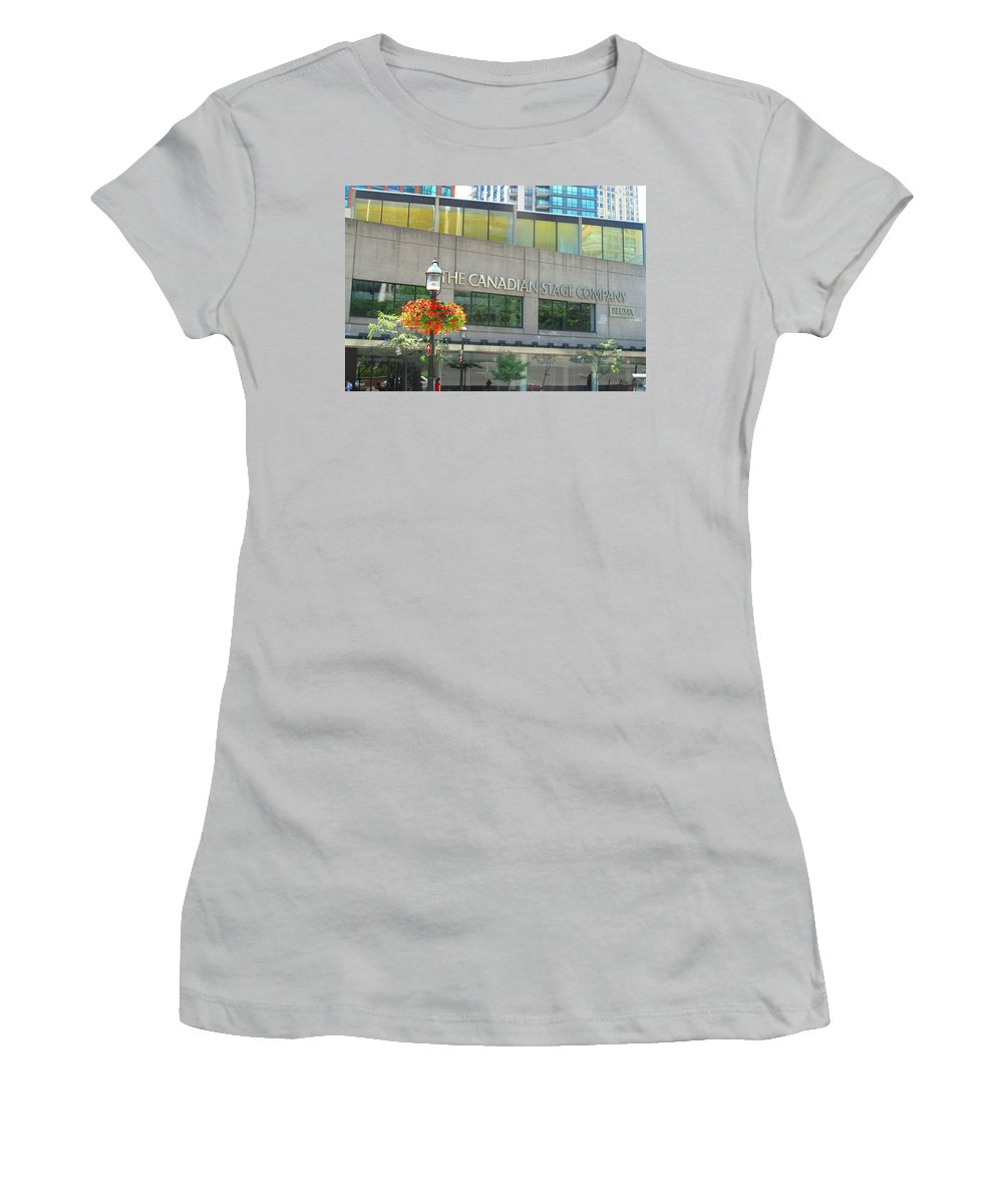 Canada Women's T-Shirt (Athletic Fit) featuring the photograph The Canadian Stage Company by Ian MacDonald