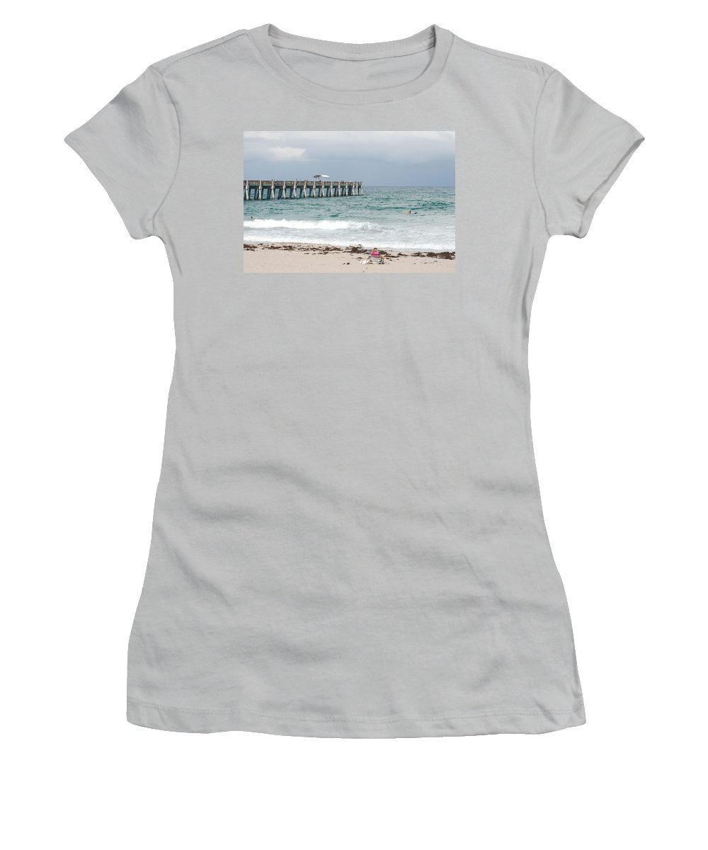 Women Women's T-Shirt (Athletic Fit) featuring the photograph The Ocean Pier by Rob Hans