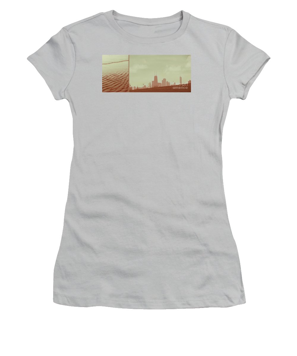 Beach Women's T-Shirt (Athletic Fit) featuring the photograph The Other Side Of Fate by Dana DiPasquale