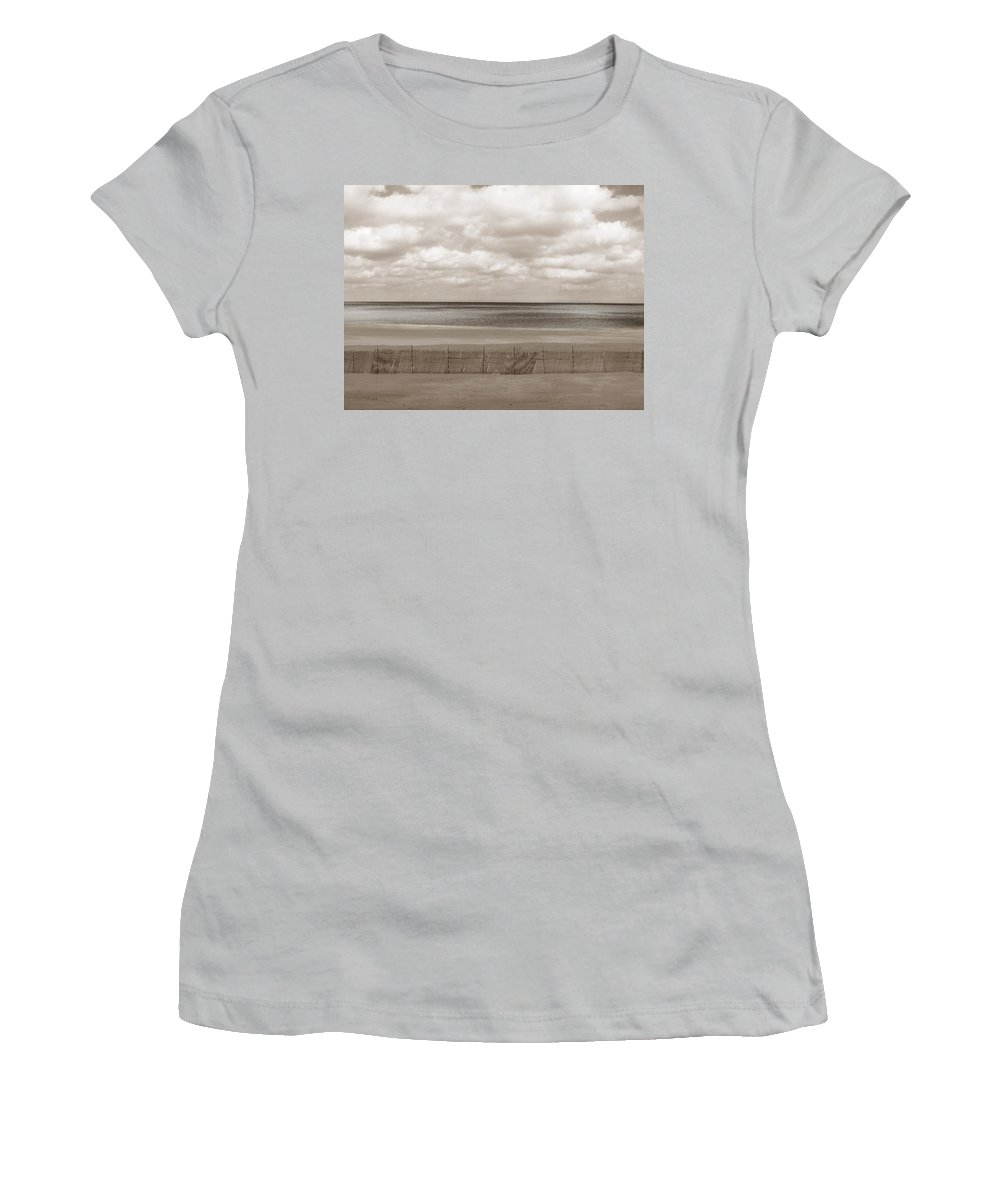 Ocean Women's T-Shirt (Athletic Fit) featuring the photograph The Perfect Sky Is Torn by Dana DiPasquale