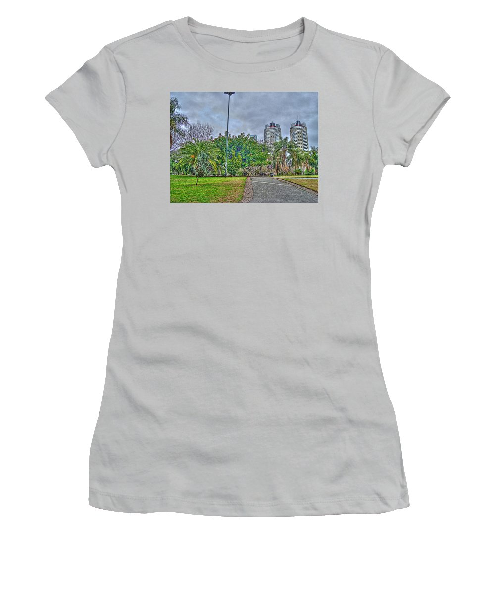 Towers Women's T-Shirt (Athletic Fit) featuring the photograph The Towers by Francisco Colon