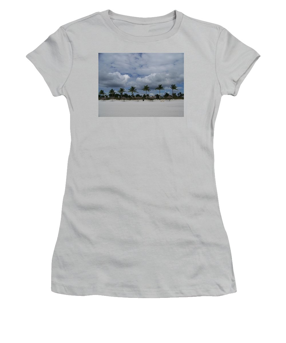 Marco Women's T-Shirt (Athletic Fit) featuring the photograph Tiger Tail Beach by Laurie Paci