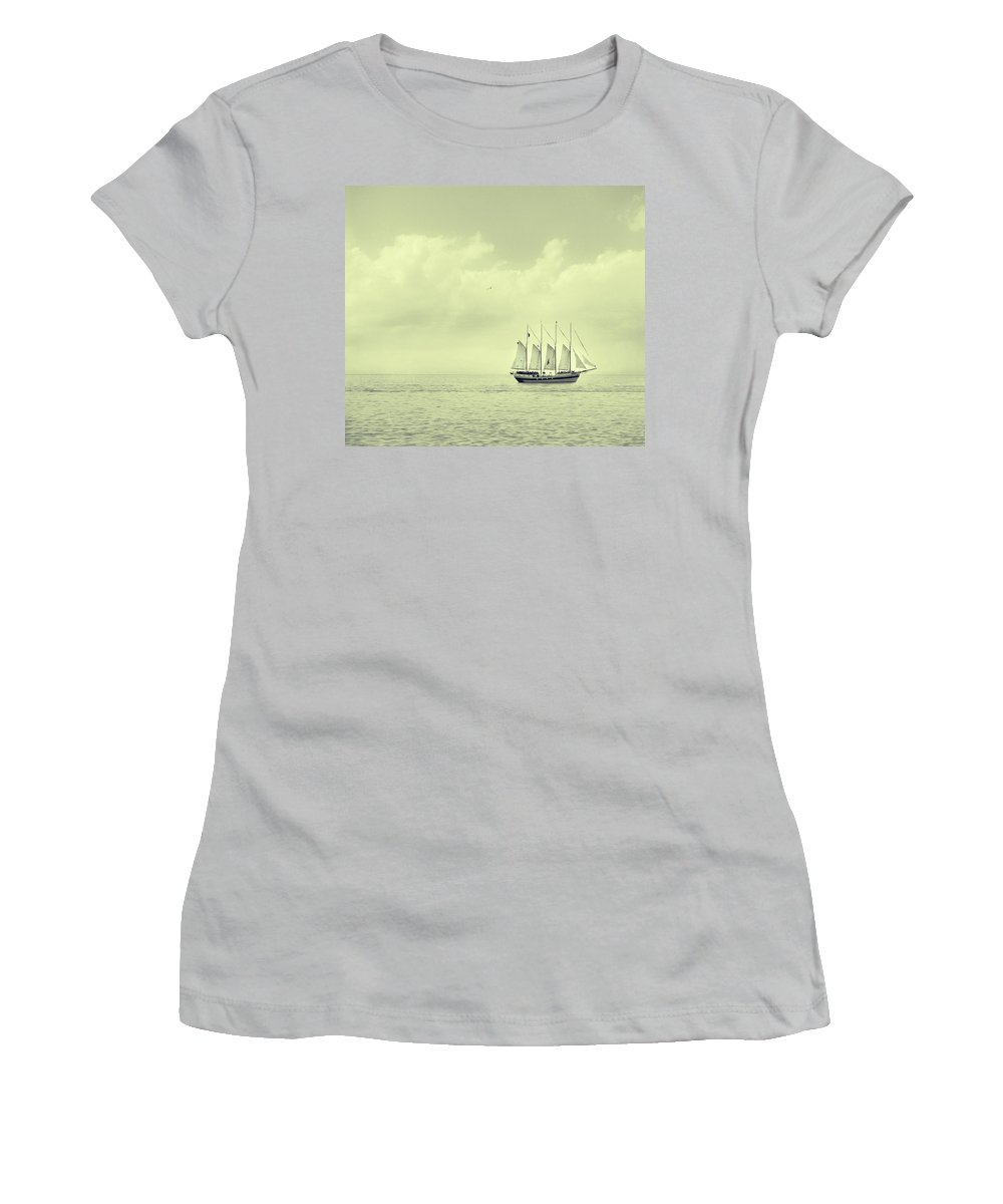 Ship Women's T-Shirt (Athletic Fit) featuring the photograph To Hold Time In Your Hand by Dana DiPasquale