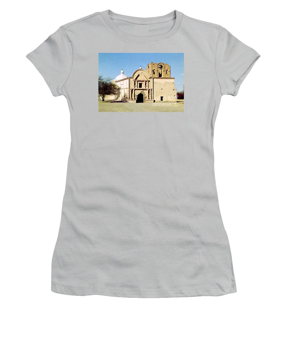 Mission Women's T-Shirt (Athletic Fit) featuring the photograph Tumacacori by Kathy McClure