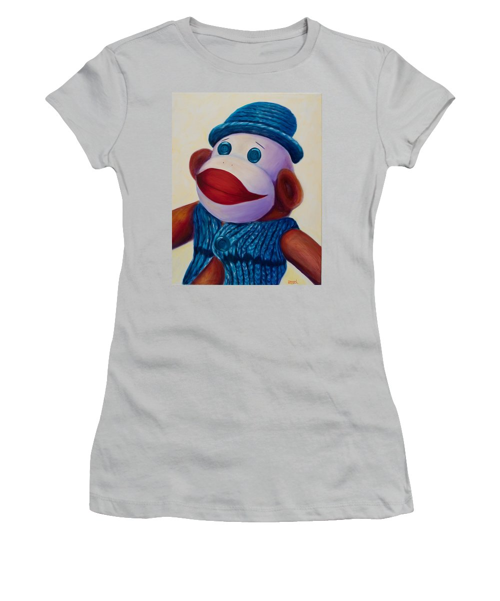 Children Women's T-Shirt (Athletic Fit) featuring the painting Uncle Frank by Shannon Grissom