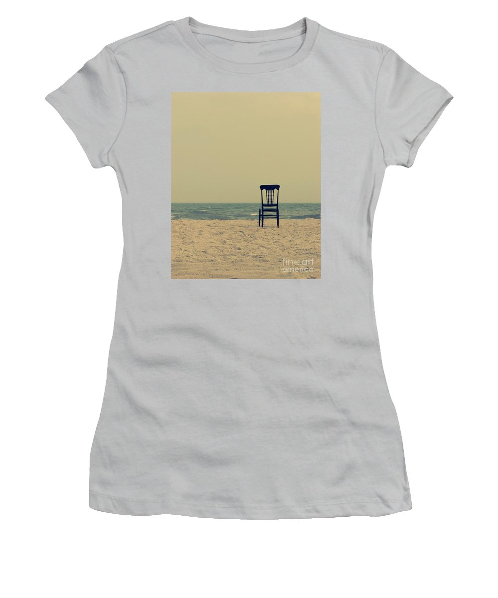 Ocean Women's T-Shirt (Athletic Fit) featuring the photograph Until Tomorrow And Tomorrow And Tomorrow by Dana DiPasquale