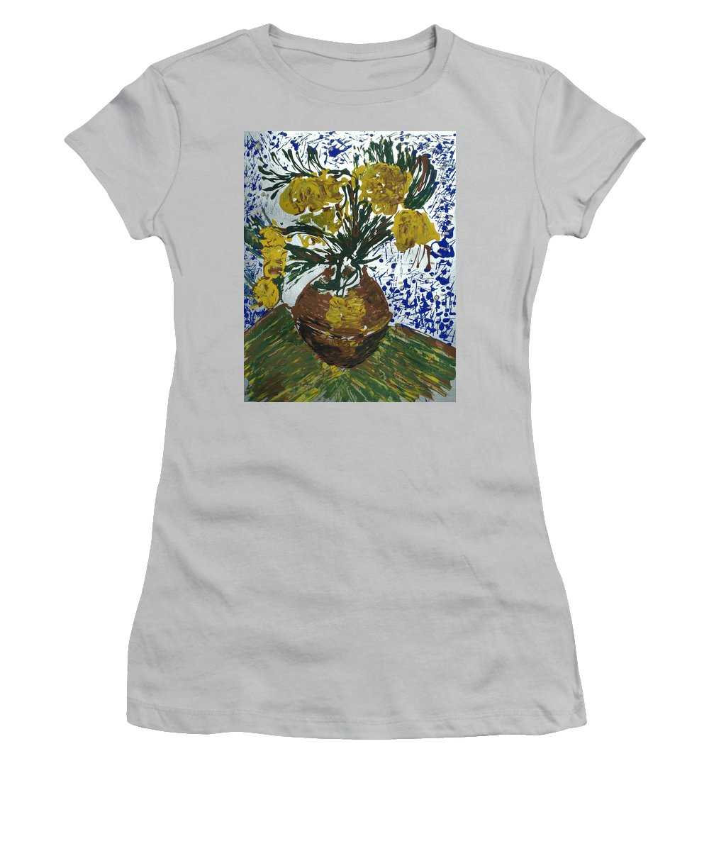 Flowers Women's T-Shirt (Athletic Fit) featuring the painting Van Gogh by J R Seymour