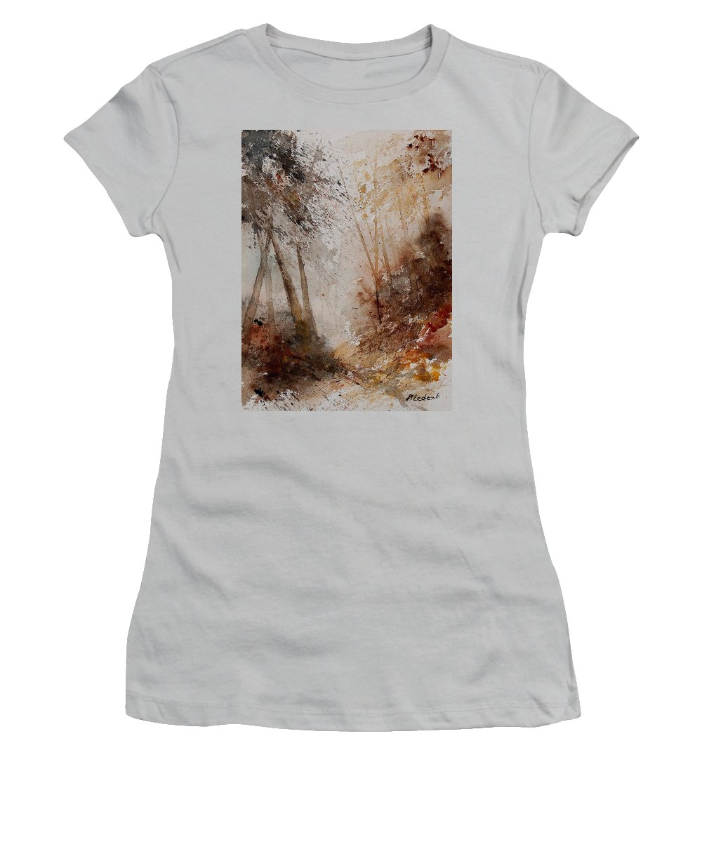 Tree Women's T-Shirt (Athletic Fit) featuring the painting Watercolor 250908 by Pol Ledent