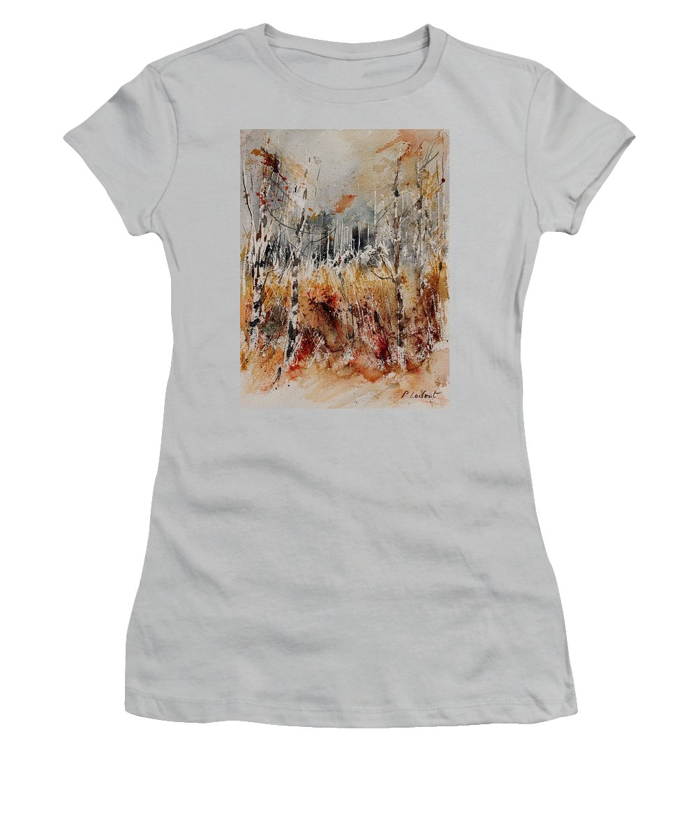 Tree Women's T-Shirt (Athletic Fit) featuring the painting Watercolor 904012 by Pol Ledent