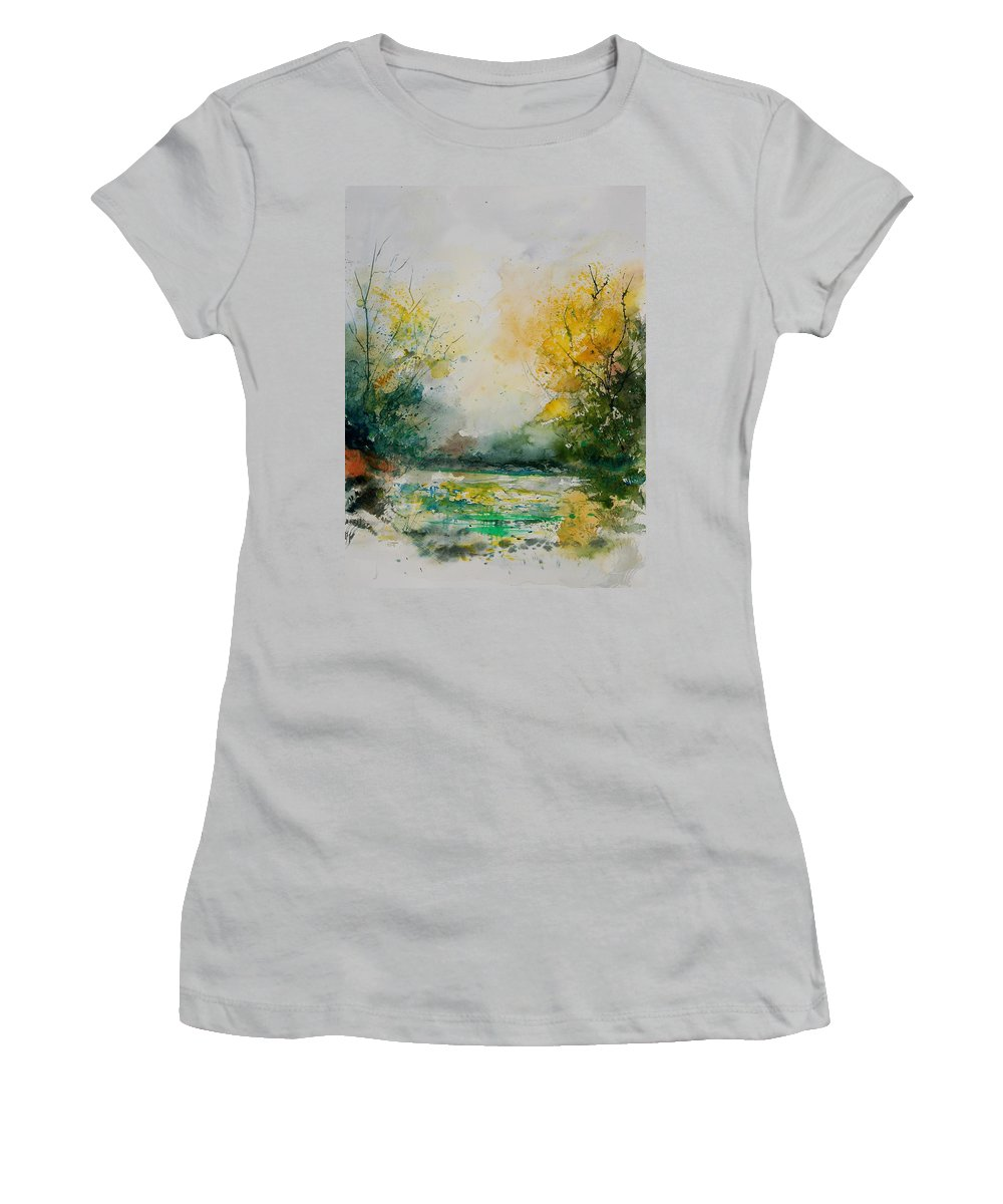Water Women's T-Shirt (Athletic Fit) featuring the painting Watercolor 905081 by Pol Ledent