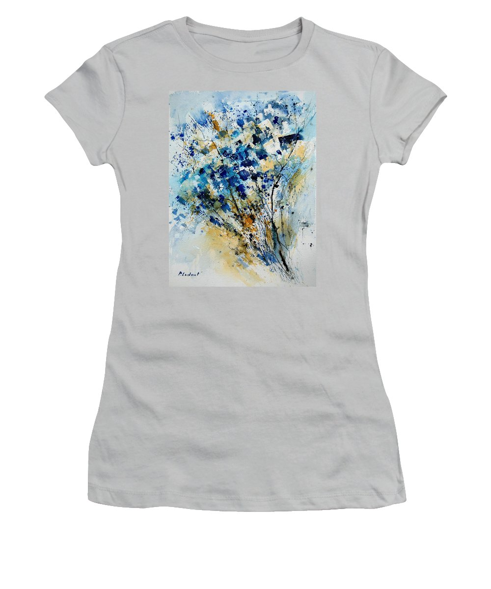 Flowers Women's T-Shirt (Athletic Fit) featuring the painting Watercolor 907003 by Pol Ledent
