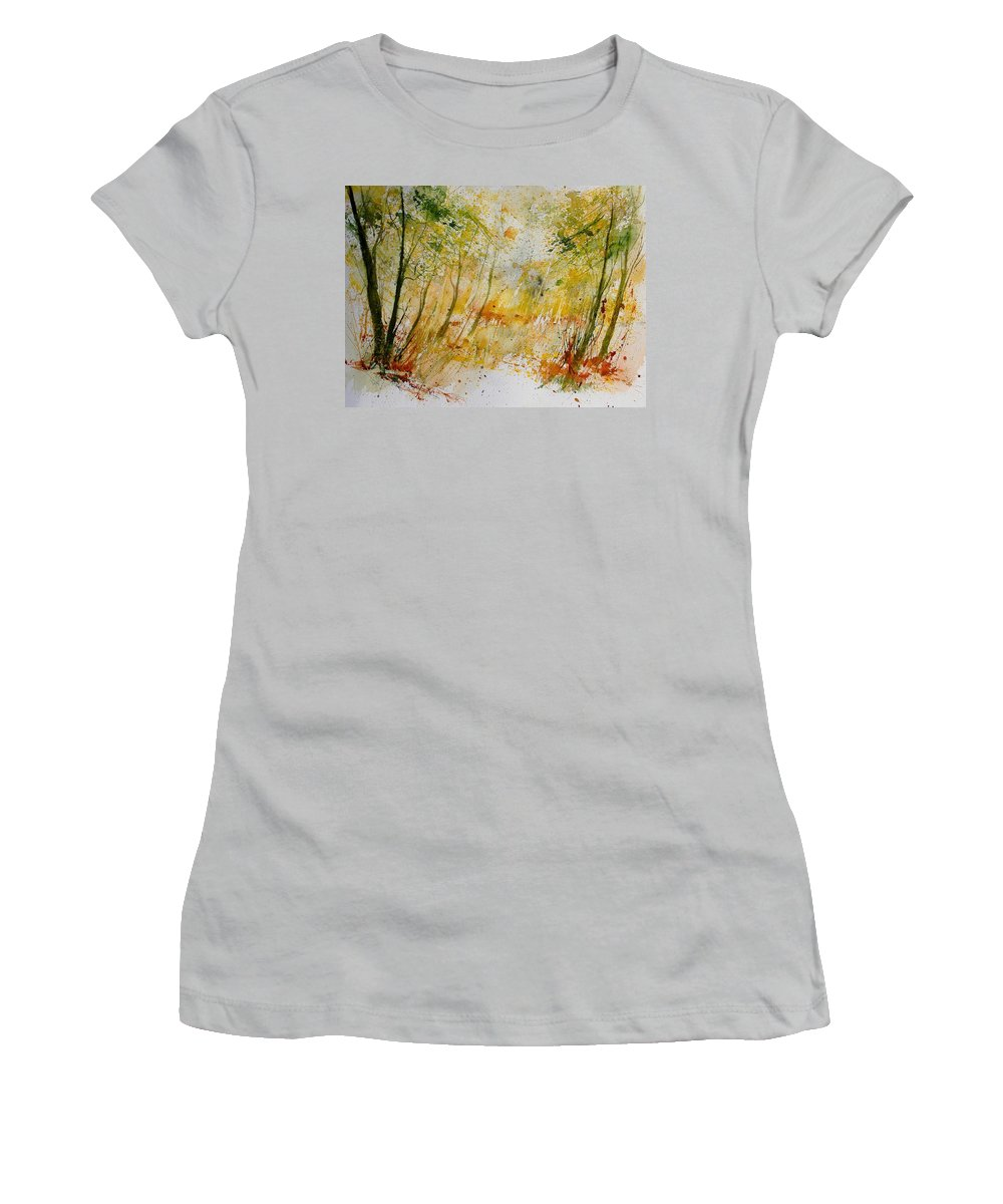 Tree Women's T-Shirt (Athletic Fit) featuring the painting Watercolor 908012 by Pol Ledent