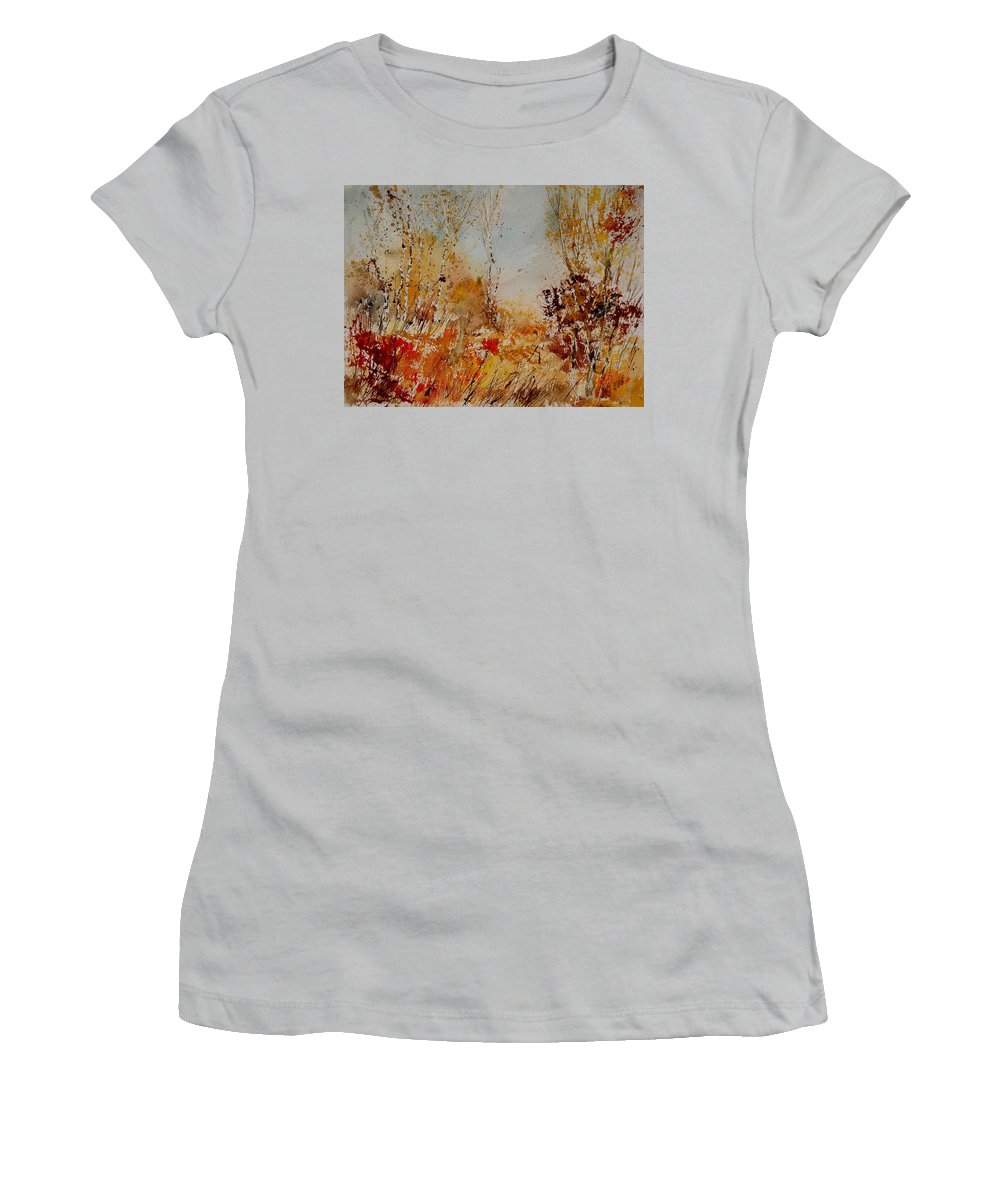 Tree Women's T-Shirt (Athletic Fit) featuring the painting Watercolor 908031 by Pol Ledent