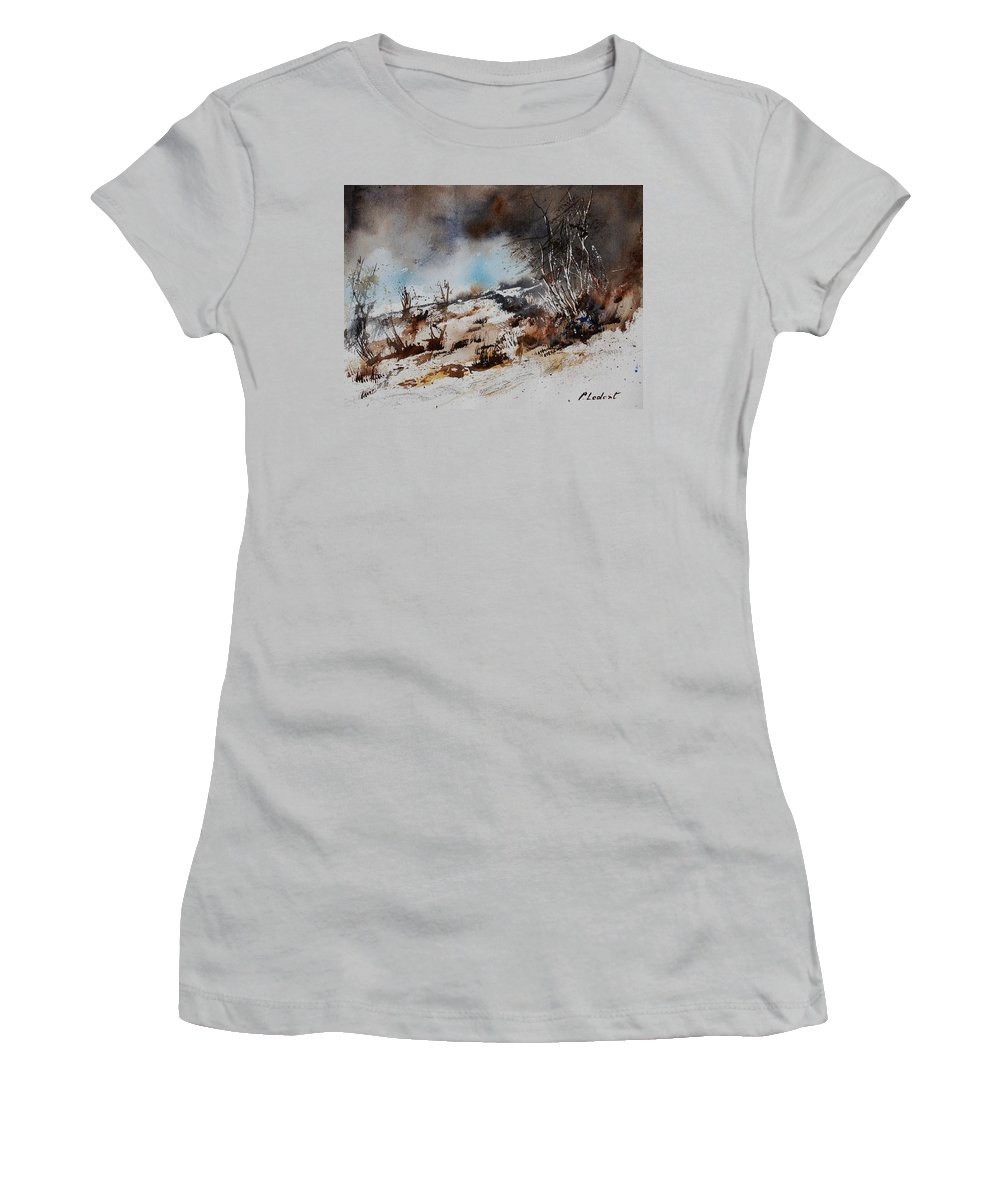 River Women's T-Shirt (Athletic Fit) featuring the painting Watercolor Jjook by Pol Ledent