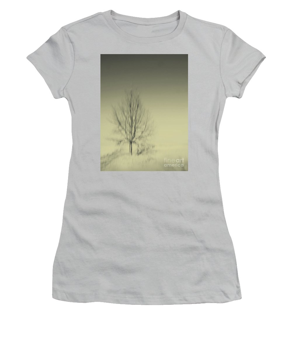 Dipasquale Women's T-Shirt (Athletic Fit) featuring the photograph When You Wake Up I Will Have Gone by Dana DiPasquale