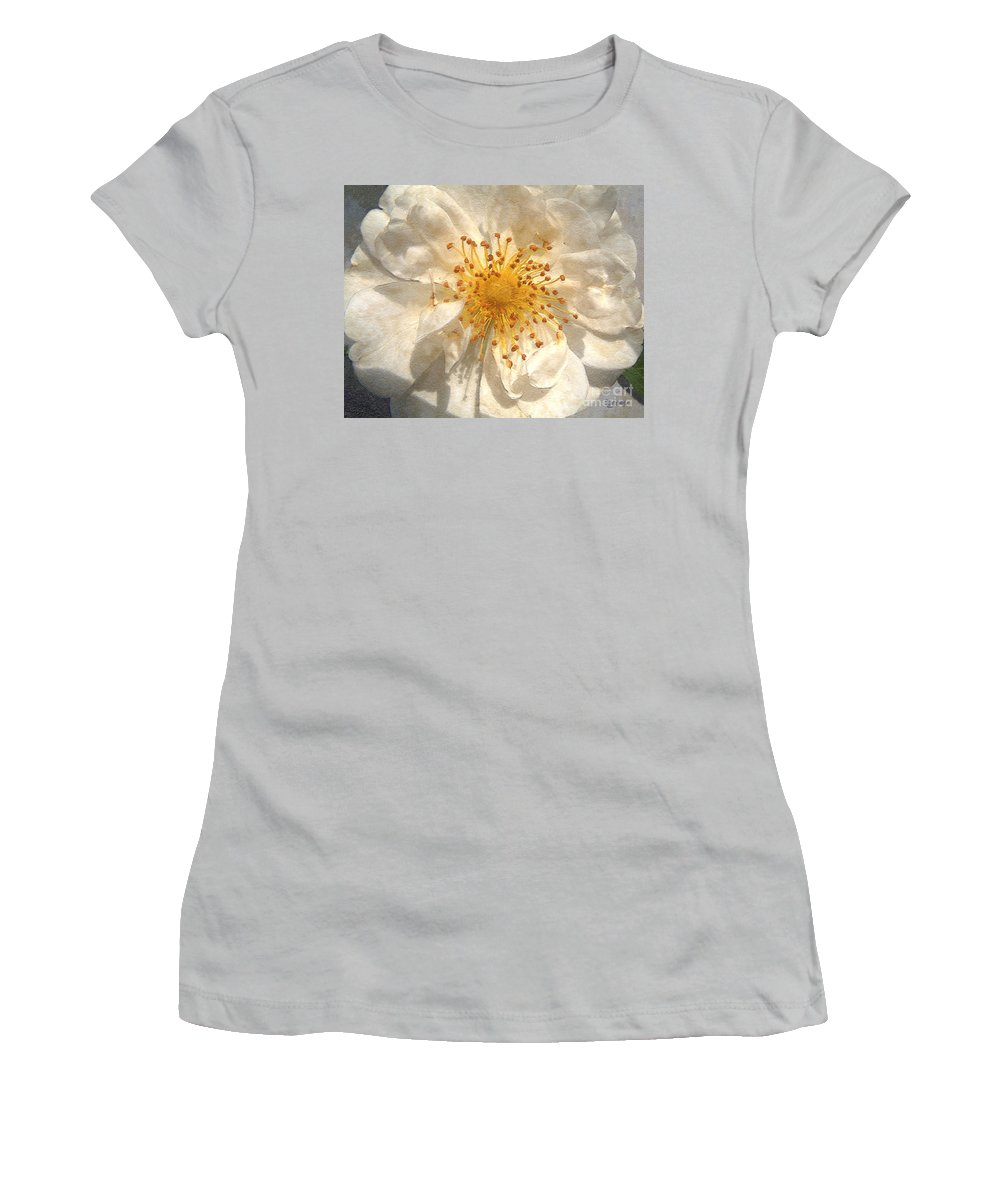 Rose Women's T-Shirt (Athletic Fit) featuring the painting Wide Open by RC DeWinter