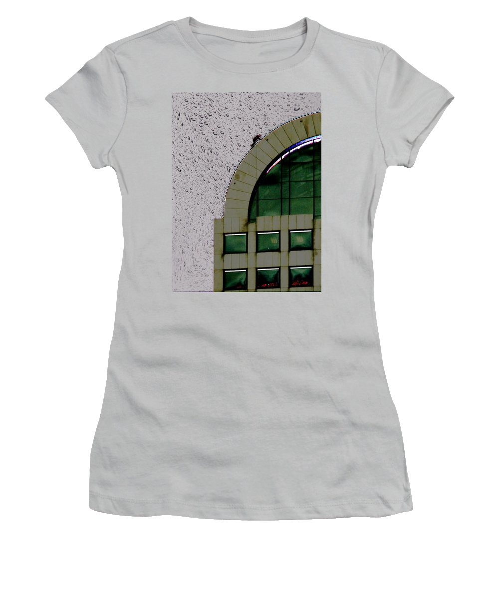 Seattle Women's T-Shirt (Athletic Fit) featuring the photograph Window Washer by Tim Allen
