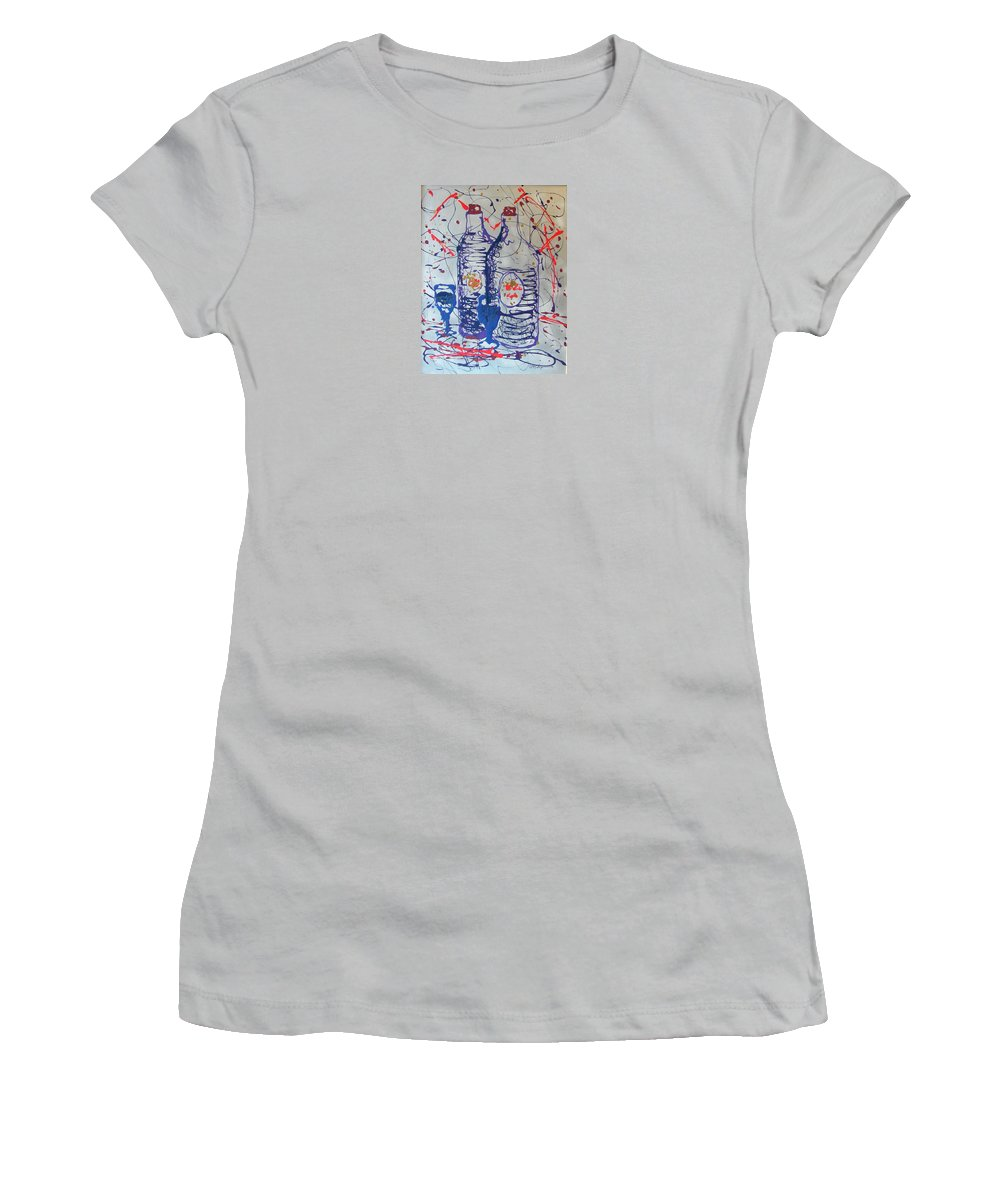 Impressionist Painting Women's T-Shirt (Athletic Fit) featuring the painting Wine Jugs by J R Seymour