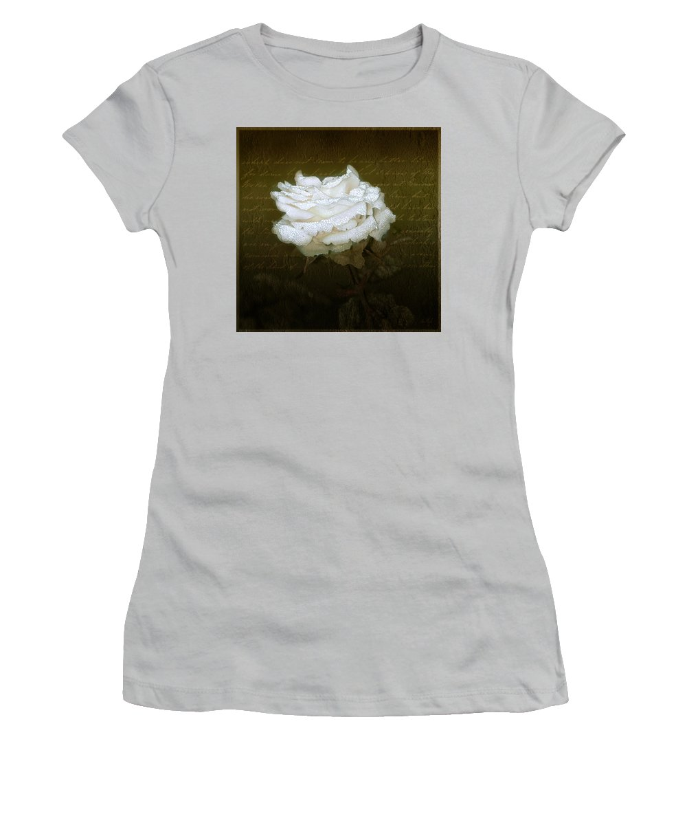 Floral Women's T-Shirt (Athletic Fit) featuring the photograph With Love by Holly Kempe