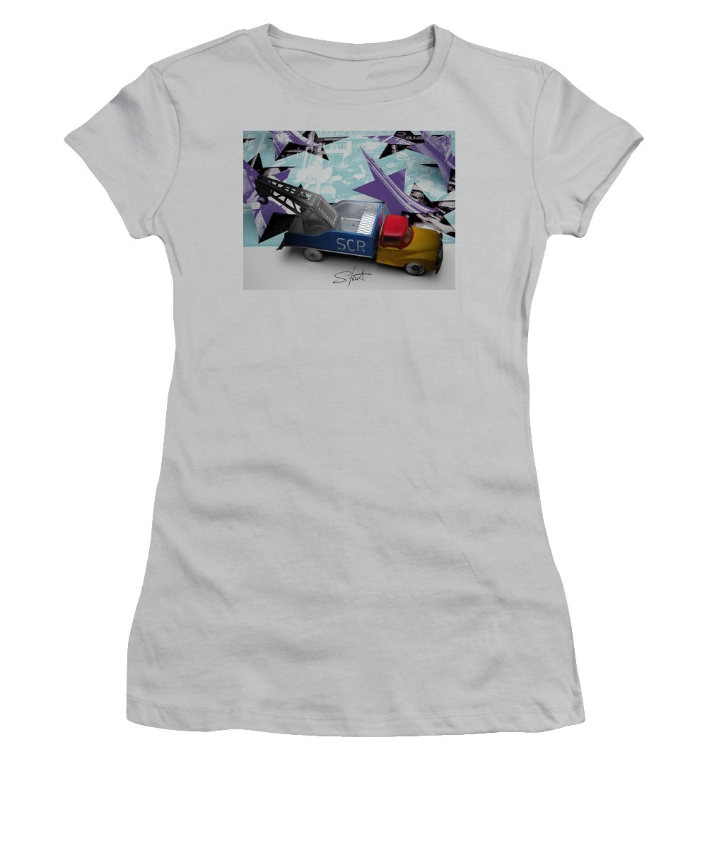 Marilyn Women's T-Shirt (Athletic Fit) featuring the photograph Wrecking Crew by Charles Stuart