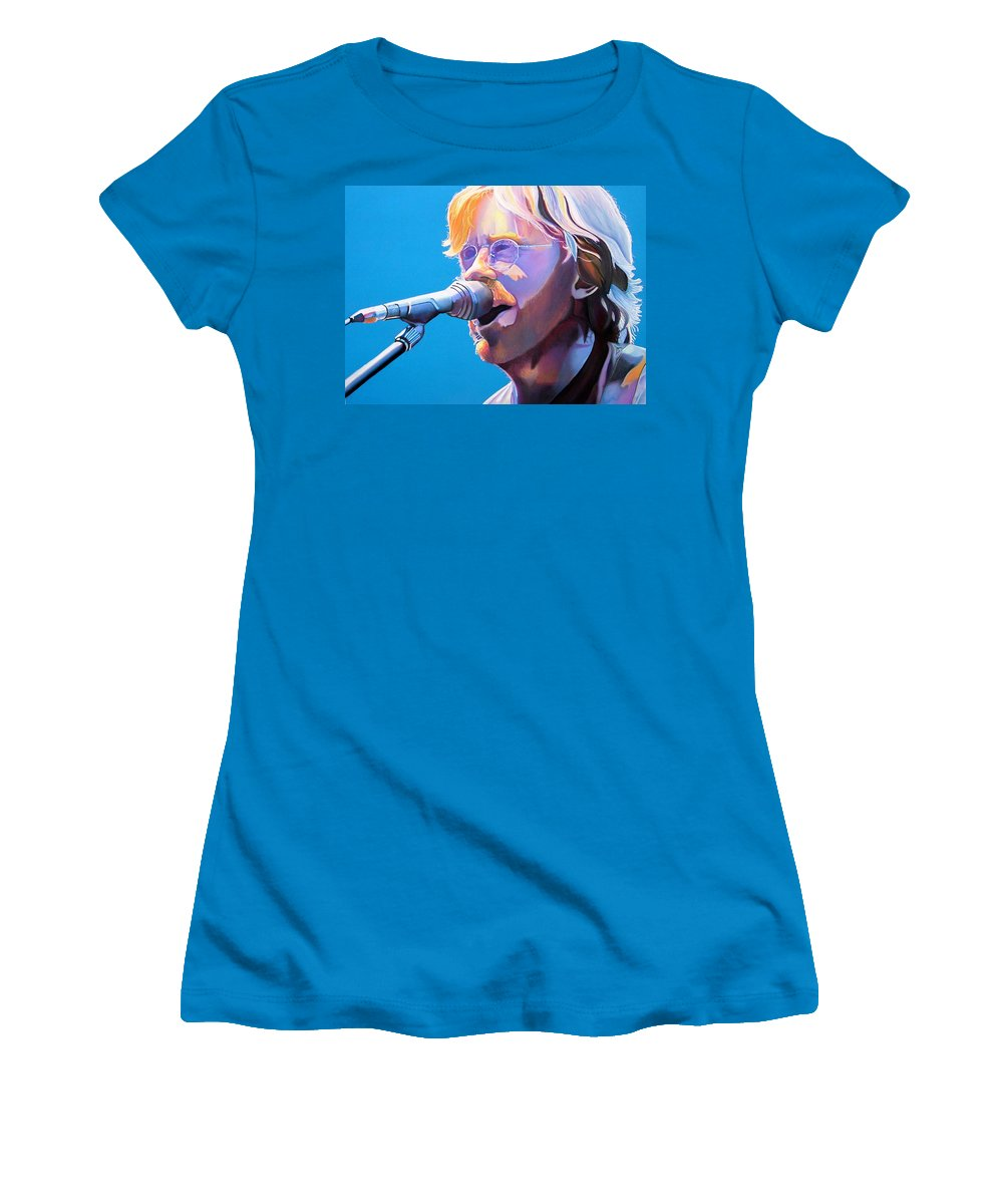 Phish Women's T-Shirt (Athletic Fit) featuring the drawing Trey Anastasio by Joshua Morton