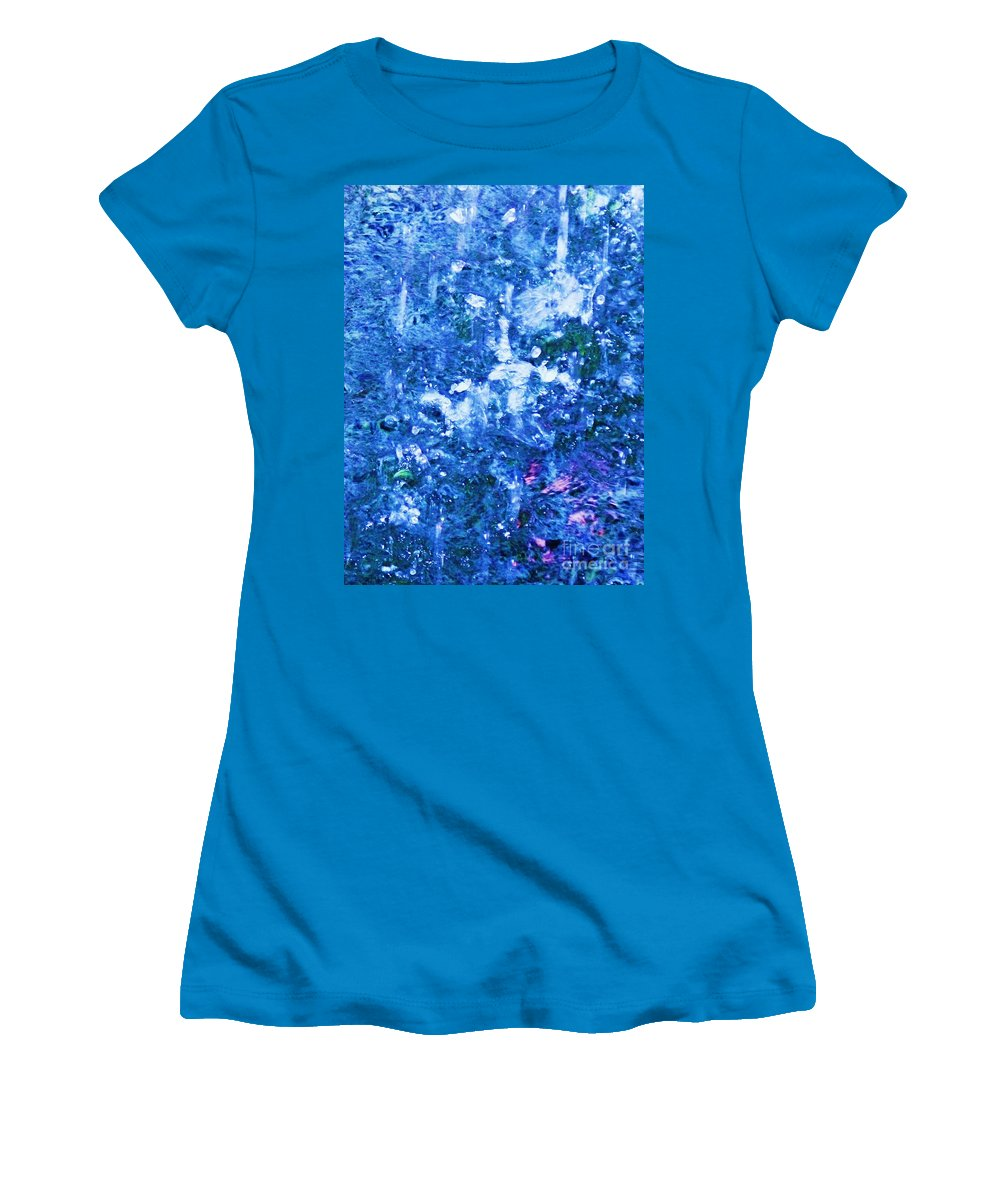 Abstract Women's T-Shirt (Athletic Fit) featuring the photograph Abstract Splashing Water by Eric Schiabor