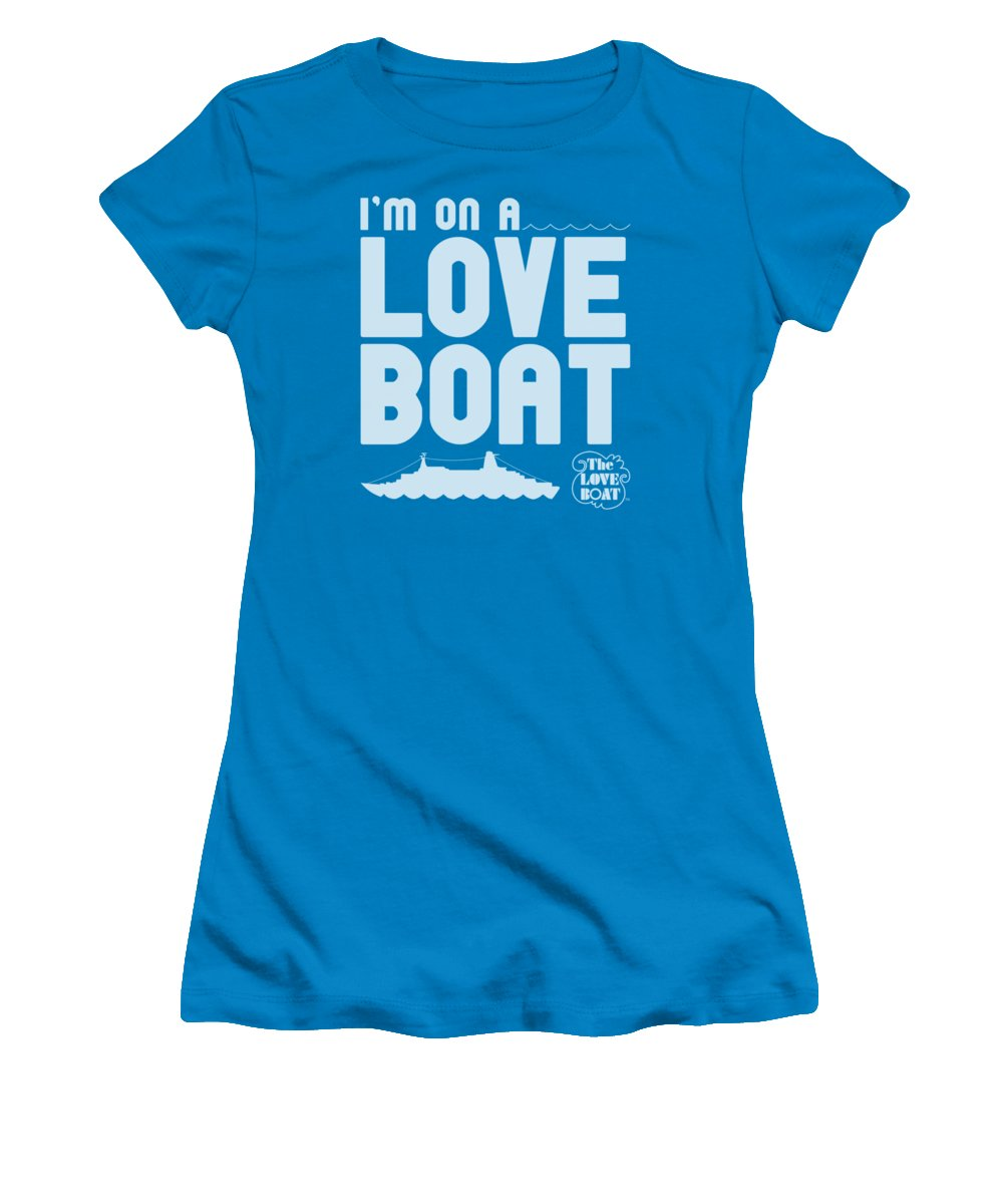 The Love Boat Women's T-Shirt featuring the digital art Love Boat - I'm On A by Brand A