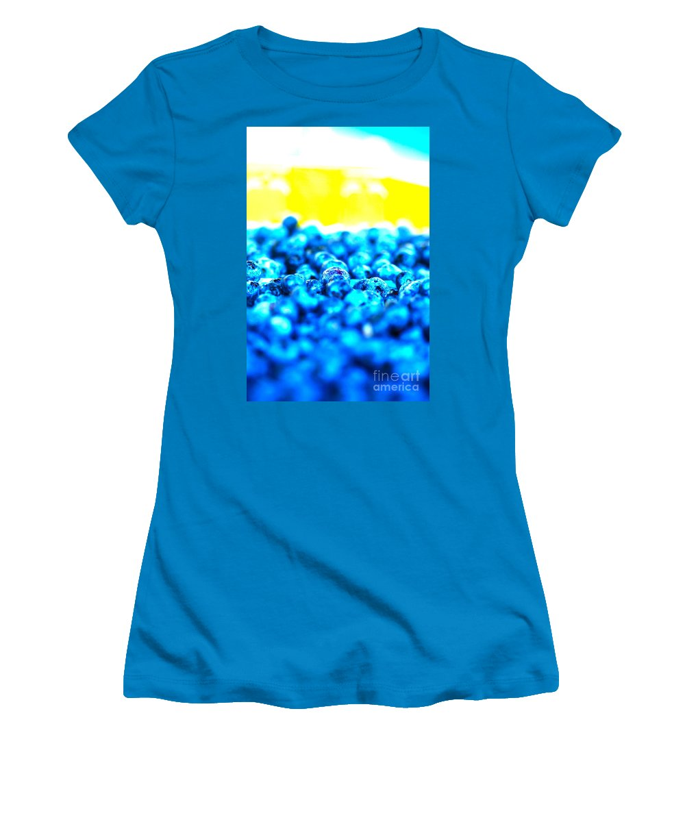 Blue Women's T-Shirt (Athletic Fit) featuring the photograph Blue Blur by Nadine Rippelmeyer