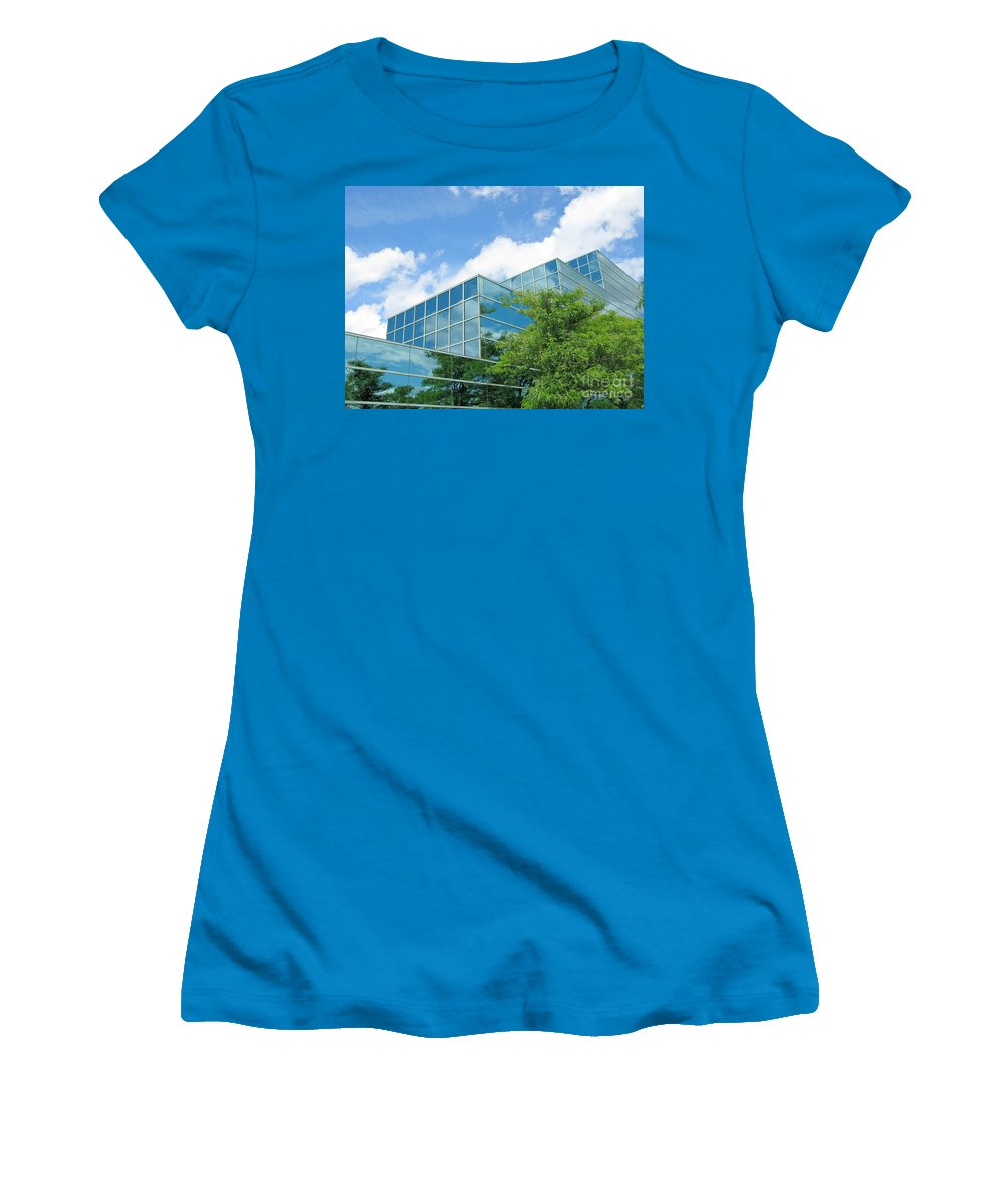 Architecture Women's T-Shirt (Athletic Fit) featuring the photograph Climbing Skyward by Ann Horn