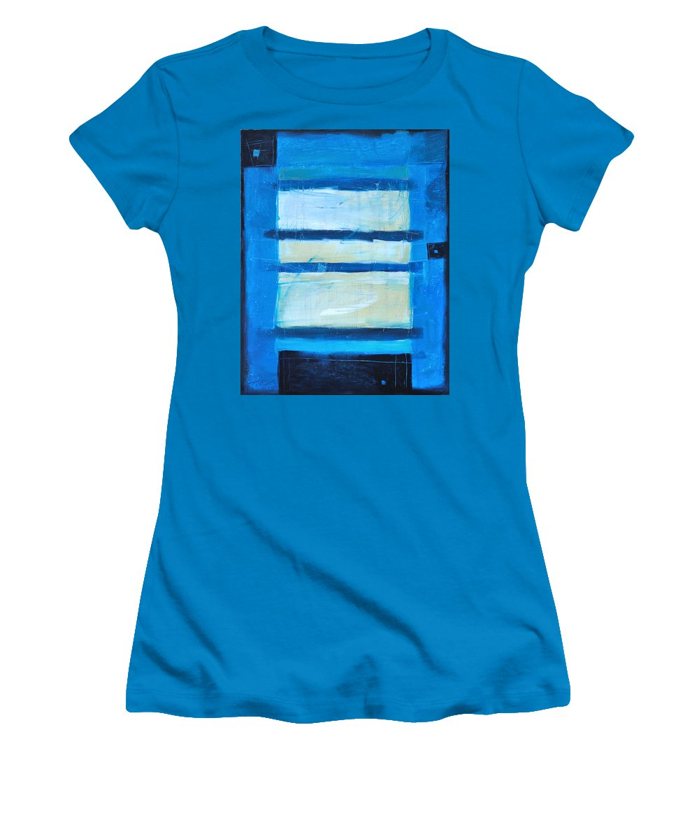 Abstract Women's T-Shirt (Athletic Fit) featuring the painting Hidden Moon by Tim Nyberg