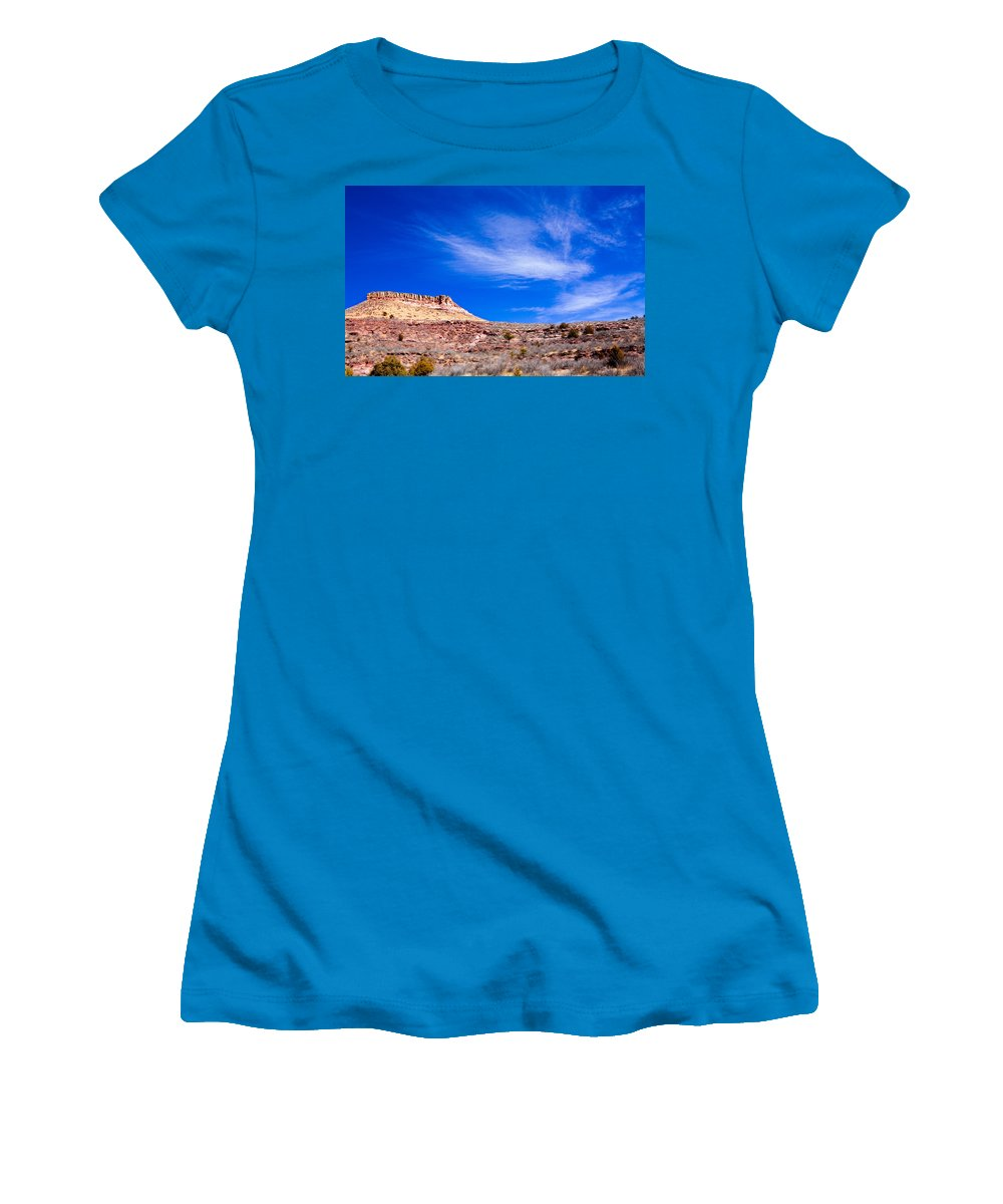 Red Women's T-Shirt (Athletic Fit) featuring the photograph Outside Lyons Colorado by Marilyn Hunt