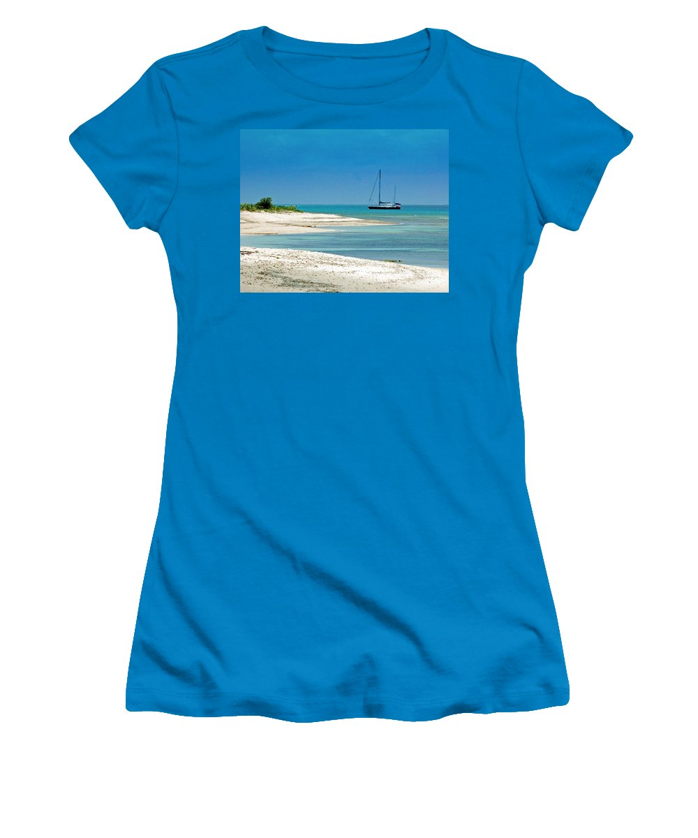 Boat Women's T-Shirt (Athletic Fit) featuring the photograph Paradise Found by Debbi Granruth