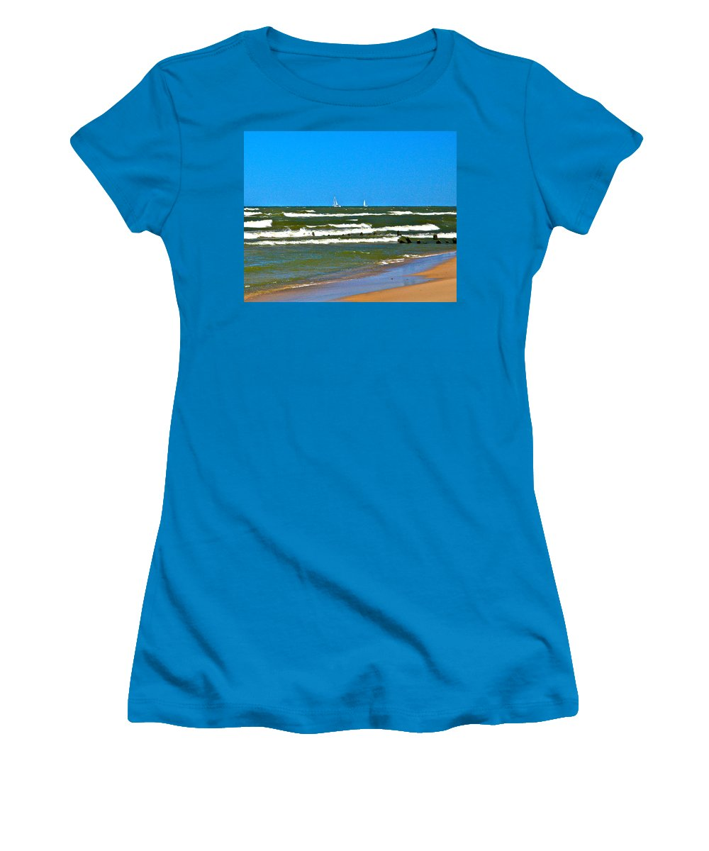 Water Women's T-Shirt (Athletic Fit) featuring the photograph Sailing Away by Robert Pearson