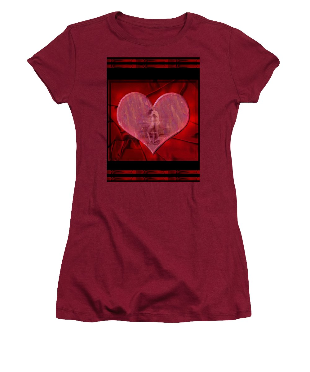 Nude Women's T-Shirt (Athletic Fit) featuring the photograph My Hearts Desire by Kurt Van Wagner