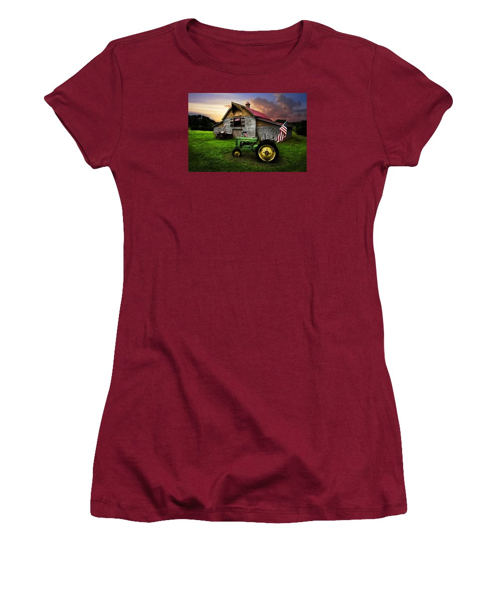 American Women's T-Shirt (Athletic Fit) featuring the photograph God Bless America by Debra and Dave Vanderlaan