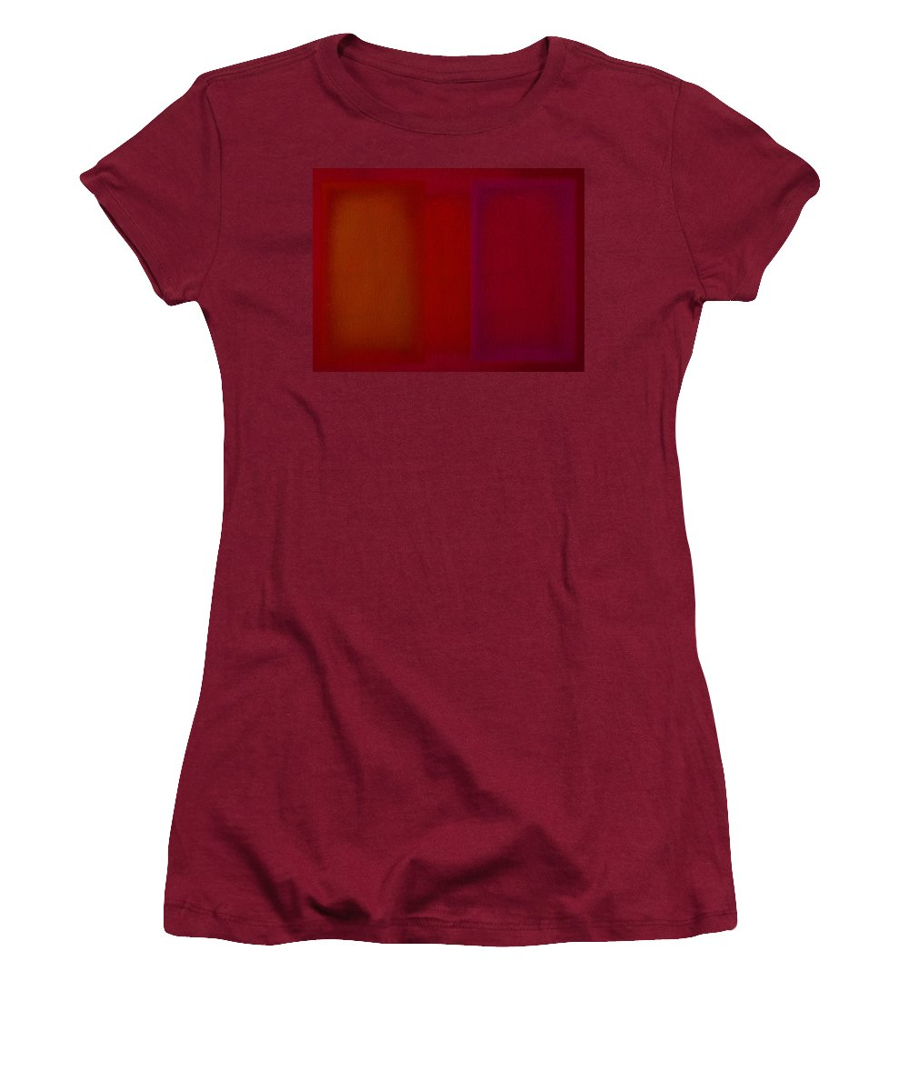 Rothko Women's T-Shirt (Athletic Fit) featuring the painting Red by Charles Stuart