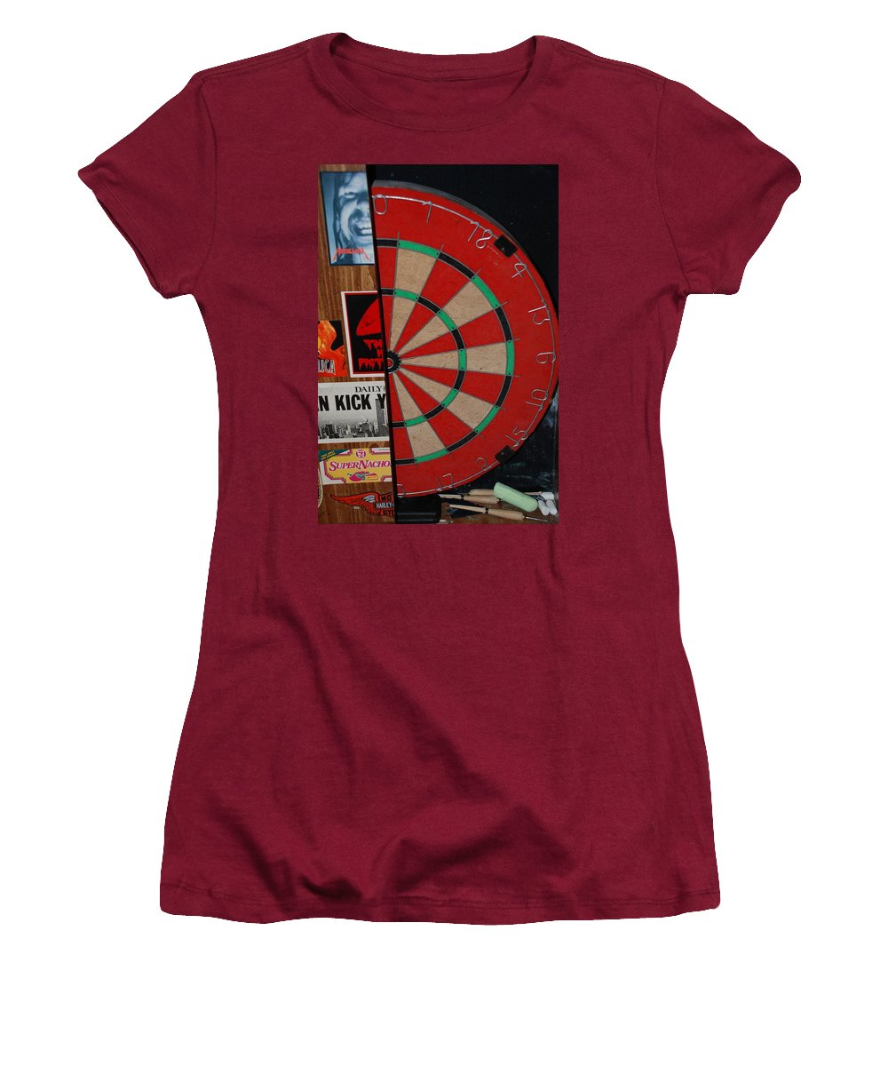 Macro Women's T-Shirt (Athletic Fit) featuring the photograph The Dart Board by Rob Hans