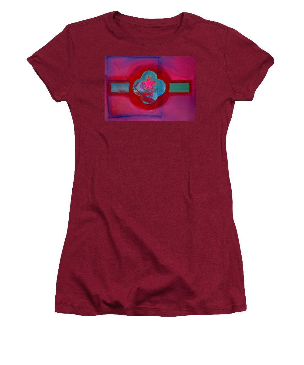 Star Women's T-Shirt (Athletic Fit) featuring the painting American Spiritual Decal by Charles Stuart