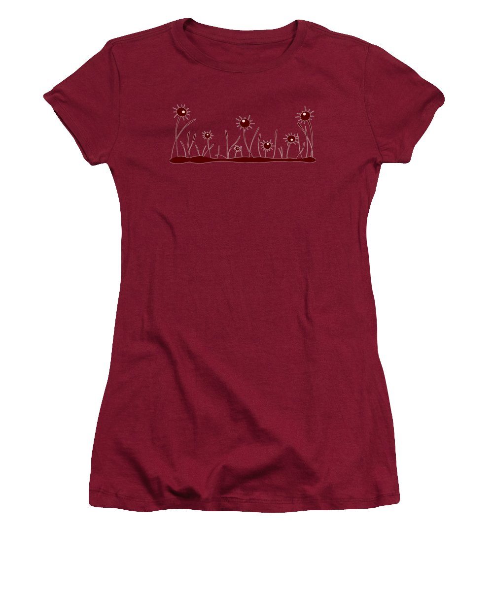Reflection Women's T-Shirt (Athletic Fit) featuring the digital art Line Of Defense by Anastasiya Malakhova